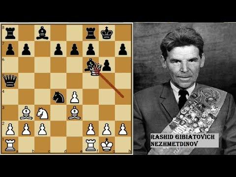 A Game of Amazing Sacrifices - Nezhmetdinov vs Chernikov 1962