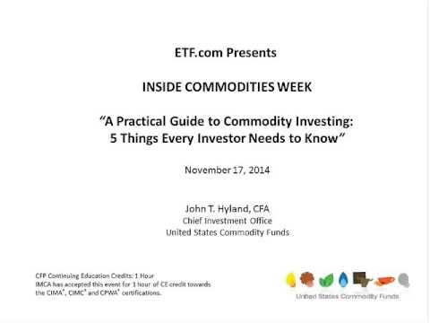 A Practical Guide to Commodity Investing: 5 Things Every Investor Needs to Know