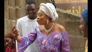 Bidemi Kosoko On Video Chat With Her Husband In Overseer At Their Baby NamingAs Aina Gold steps in