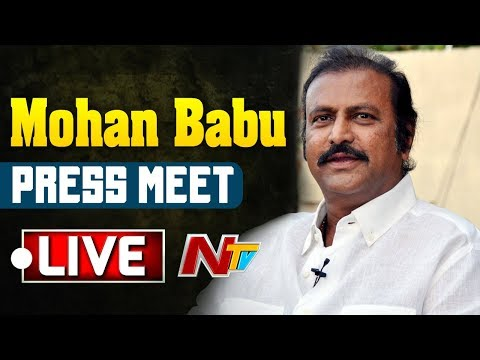 Mohan Babu Press Meet Live   AP Election Results   NTV LIVE
