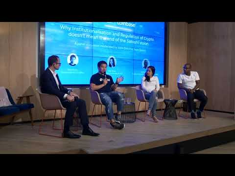 Panel discussion on institutionalisation and regulation of crypto w/ Liquid, Coinbase, LendingBlock