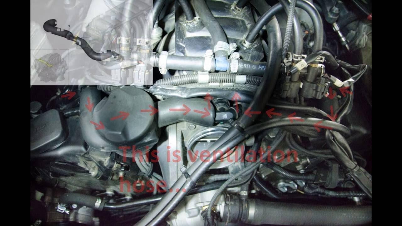 BMW X5 E70 V8 N62TU  CCV, PCV positioning & replacement