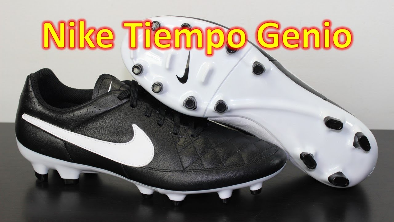 Nike Tiempo Genio Black/White - Unboxing + On Feet. Soccer Reviews For You