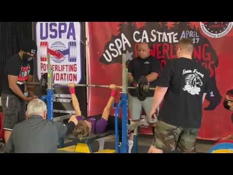 Allison Ross -110lb Bench press