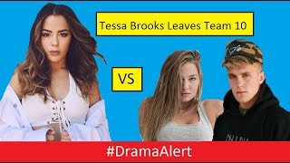 Tessa Brooks Leaves Team 10! #DramaAlert Bhad Bhabie Roast Jake Paul - Chubbs vs 12 year old!