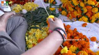 Marigold Flower Garland Making | | FLOWER MALA MAKER | Flower Garland Maker |