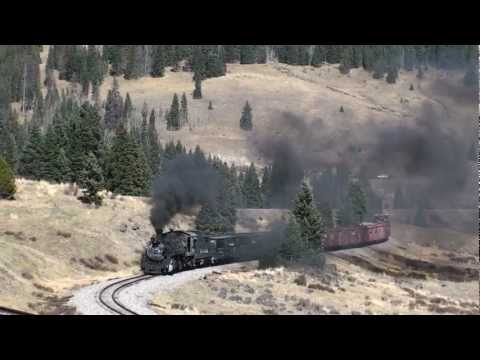 USA - Steam whistles echoing around at Tanglefoot Curve - 19/10/2012