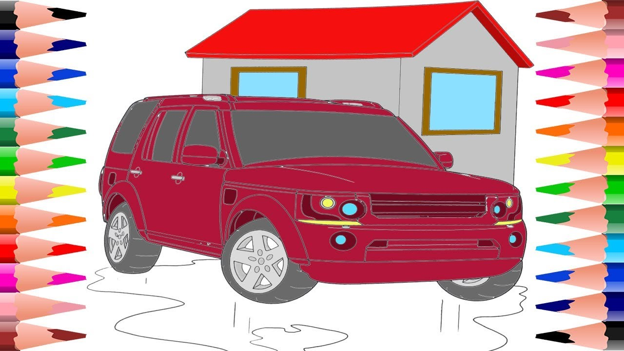 painting sport cars coloring pages how to paint coloring book