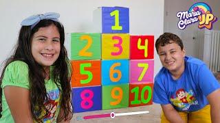 Maria Clara e JP ensinam a contar até 10 - Мария Клара и JP учат считать до 10