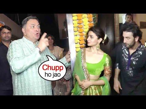Rishi Kapoor's Unblivable FIGHT Wid Media-N-Phtographers- Ranbir,Alia Outside EktaKapoorHouse@Diwali