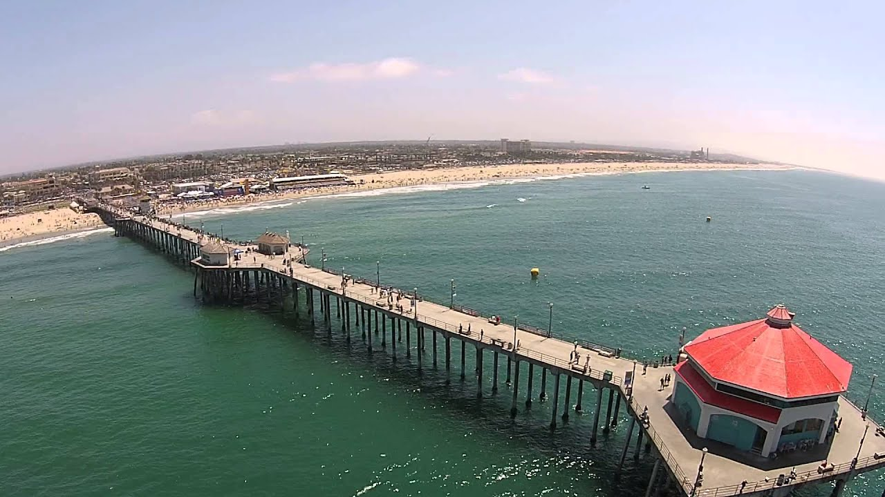 Drone Aerial View Of Huntington Beach