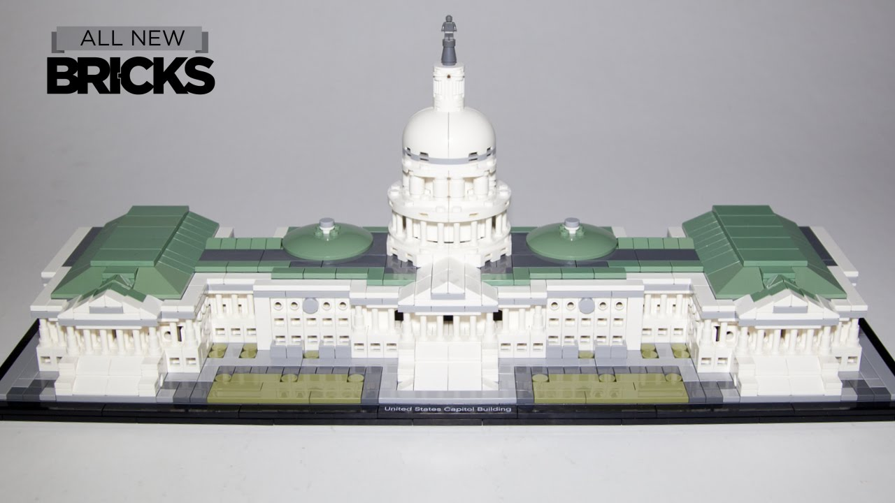 Lego Architecture 21030 United States Capitol Building Speed Build Youtube