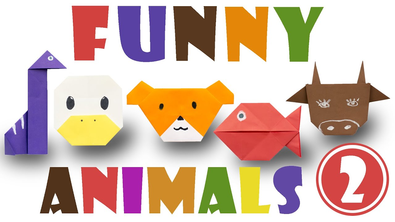 Origami for kids. Top 5 easy origami animals. #2 - YouTube - photo#22