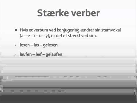 svage verber tysk