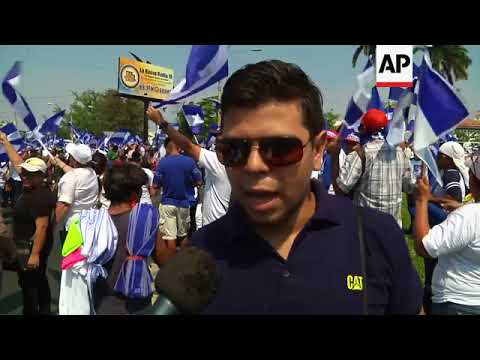 Thousands peacefully protest against Nicaragua's government