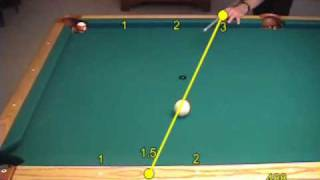 Diamond system for aiming rolling-cue-ball kick shots, from VEPS IV (NV B.82)