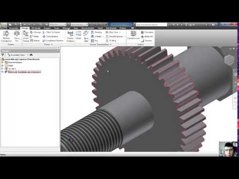 Desing inventor 2013 shaft spur gear key youtube desing inventor 2013 shaft spur gear key ccuart Image collections