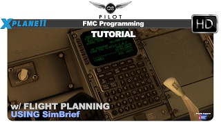 FMC Programming Basics w/ Flight Planning Tutorial Using SimBrief