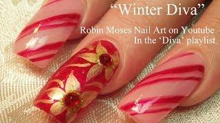 3 Nail Art Tutorials | Diy Easy Christmas Nails | Diva Candy And Poinsettias!