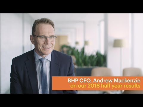 CEO Andrew Mackenzie and CFO Peter Beaven on the 2018 half year results