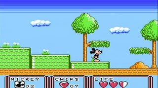 Mickey Mouse 3 Yume Fuusen - Full Playthrough - ( Kid Klown ) - ( Famicom / Nes ) - No Death