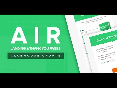 OptimizePress Club Air - Thank You Page Template - YouTube