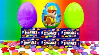 Best Paw Patrol and Surprise Eggs Unboxing | Smarties, huevo sorpresa, Jajko Niespodzianka