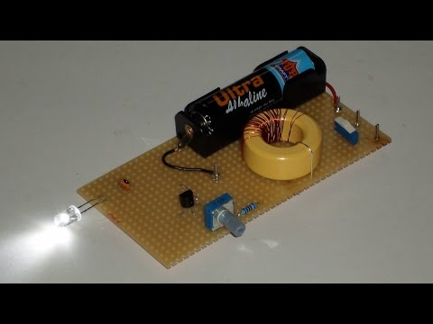 joule thief lighting 61 led 39 s with 1 aa battery funnycat tv. Black Bedroom Furniture Sets. Home Design Ideas
