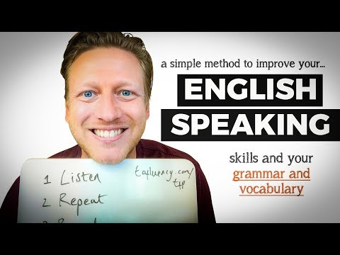Thumbnail: A Simple Method to Improve Your English Speaking Skills, Grammar, & Vocabulary (DO THIS!)