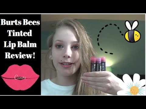 Burts Bees Tinted Lip Balm Review!