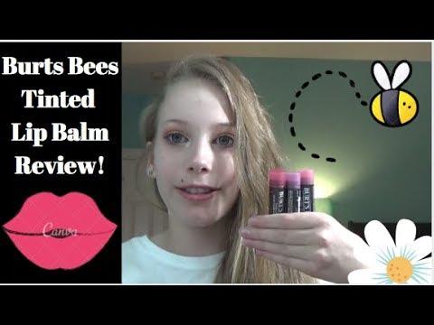 Burts Bees Tinted Lip Balm Review!