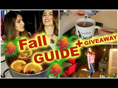 Fall Guide 🍁 Perfect Makeup, Yummy Treat - DIY + GIVEAWAY 🎉
