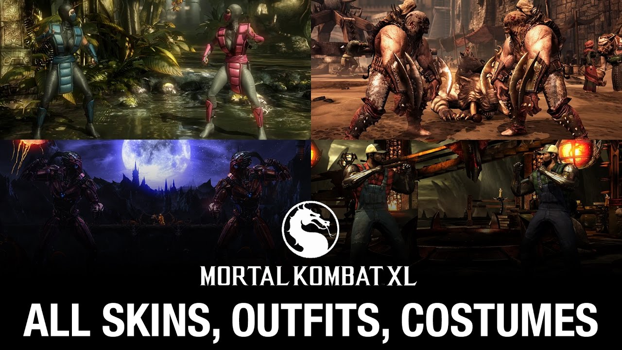 Mortal Kombat Xl All Skins Outfits Costumes Youtube