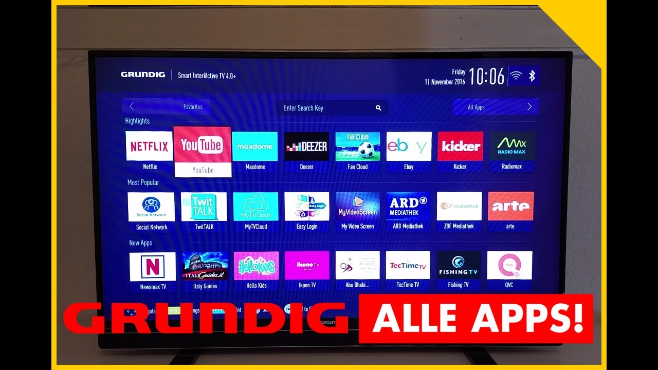 grundig smart tv apps grundig smarttv 43 gfb 6621 test smart tv application store testbericht. Black Bedroom Furniture Sets. Home Design Ideas
