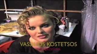 Vassilios Kostetsos Filming Documentary Supermodel Eva Herzigova @ his Fashion Show @ Mets Stadium