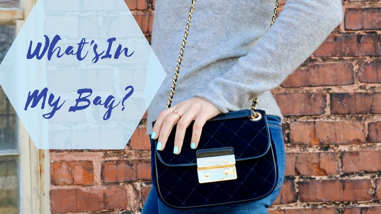 0f13555b730561 What's In My Bag: Michael Kors Velvet Sloan - YouTube