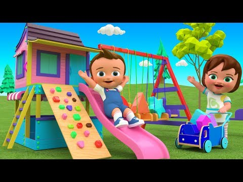 Learn Colors & Shapes for Children with Little Baby Fun Play Wooden House Slider Toy Set 3D Kids Edu