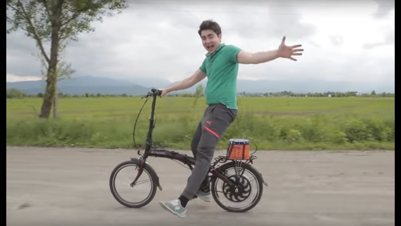 Электро-Велосипед своими руками за 15 минут! Или как я сломал руку.