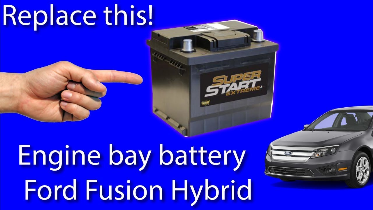Ford Fusion Hybrid Engine Bay Battery Replacement Youtube