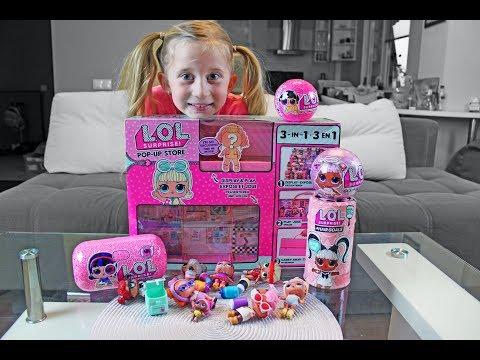 Lutkice LOL! CRNA KUGLA! Kucica za cuvanje LOL Glam Glitter i ljubimac - POP UP STORE Play & Display
