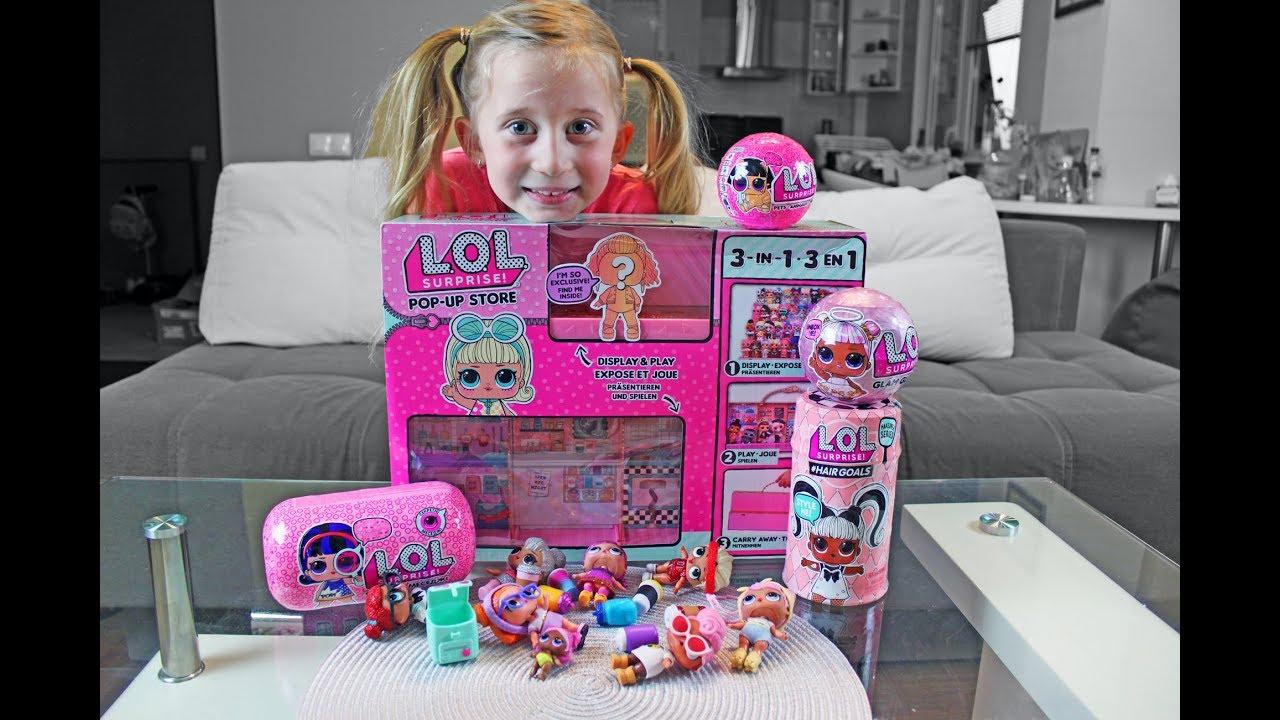 Lutkice LOL! CRNA KUGLA! Kucica za cuvanje LOL Glam Glitter i ljubimac - POP UP STORE Play & Display - YouTube