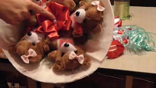 видео Букеты из мягких игрушек, мягкие букеты, оригинальные подарки
