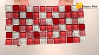 Glass Mosaic Tile Backsplash Pink Blend 1x1 - 101CHIGLABR207