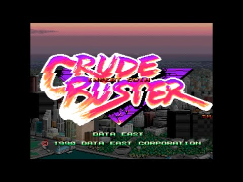 Crude Buster - Full Arcade Longplay - Data East 1990