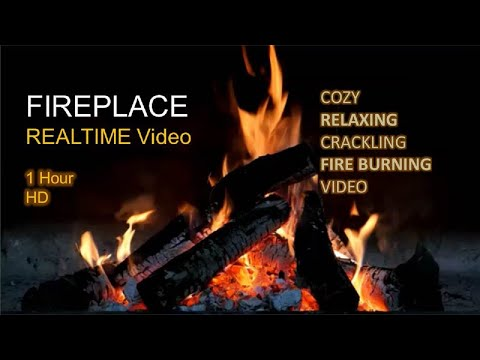 FirePlace   1 Hour HD   Kaminfeuer   Relaxing & Warm   Fire Crackling   Winter