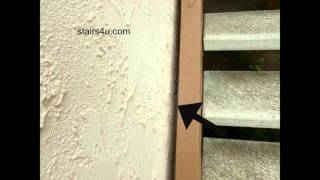 Leave Space Between Exterior Stucco Wall And Wood Stair Stringers