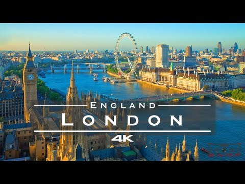 Download London, England 🇬🇧 - by drone [4K]
