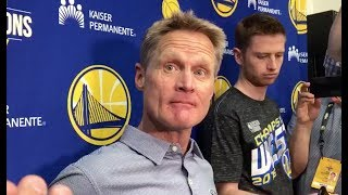 Steve Kerr on the changes the Warriors will make in offseason & David West