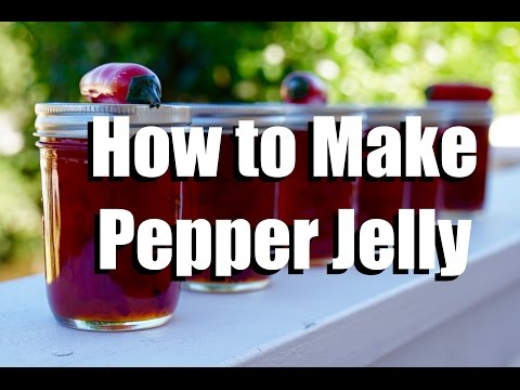 How To Make Pepper Jelly - Low Sugar - Without Any Special Canning Equipment