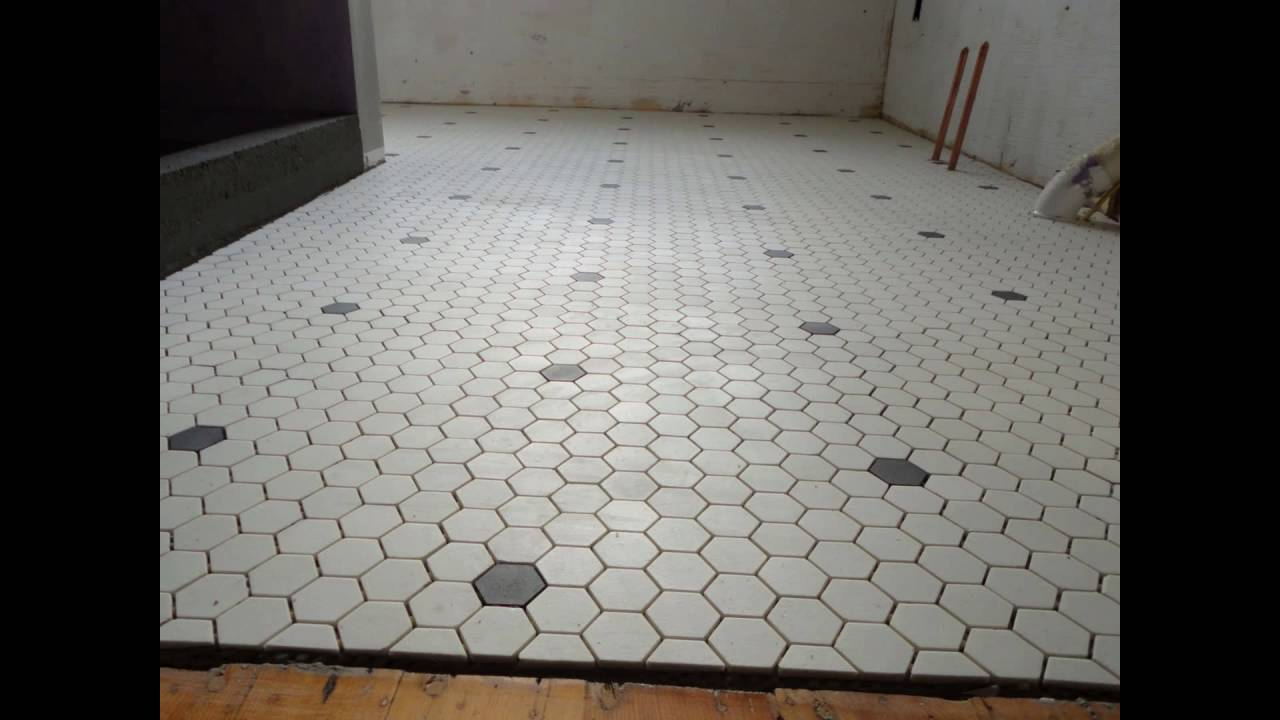 hexagonal tile floor - YouTube